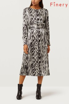 Finery London Crocus Abstract Woodland Printed Dress