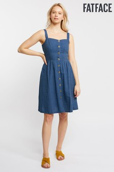 FatFace Blue Aubrey Stripe Dress
