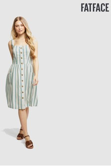 FatFace Green Aubrey Stripe Dress