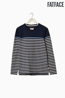 FatFace Blue Harlyn Pop Stripe Crew