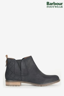 Barbour® Black Leather Maia Ankle Chelsea Boots
