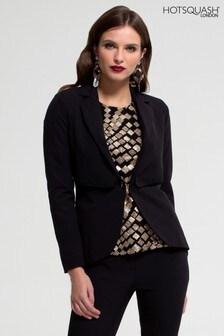 HotSquash Black Mayfair Jacket With Cufflink Button