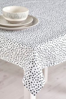 Wipe Clean Monochrome Spot Tablecloth