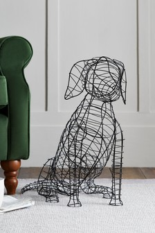 Large Wire Dog Sculpture