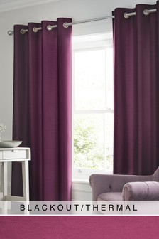 Faux Silk Eyelet Blackout/Thermal Curtains