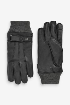 Leather Strap Gloves