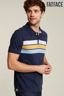 FatFace Blue Hayle Chest Stripe Polo