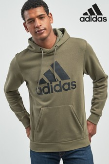 adidas Khaki Badge Of Sport Overhead Hoody
