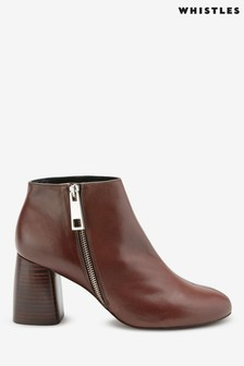 Whistles Brown Pippa Zip Boots