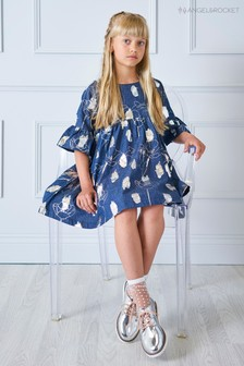 Angel & Rocket Blue Foil Print Dress