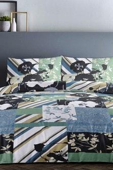 Tile Print Duvet Cover and Pillowcase Set