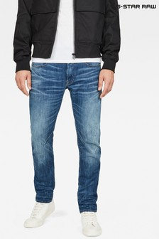 G-Star Medium Indigo Aged D-Staq 5 Pocket Slim Jeans