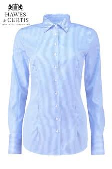 Hawes & Curtis Blue Stripe Single Cuff Shirt