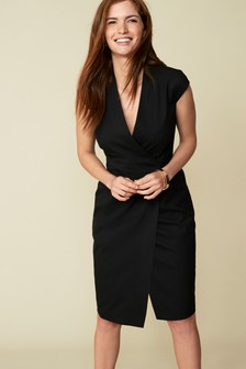 Tailored Fit Suit: Wrap Detail Dress