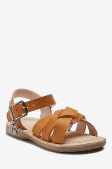 Cherry Charm Leather Sandals (Younger)