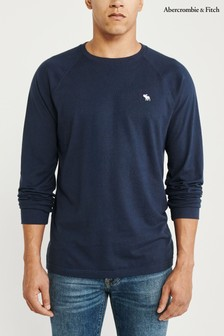 Abercrombie & Fitch Navy Long Sleeve Core Tee