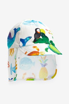 Sea Print Legionnaire Hat (0mths-2yrs)