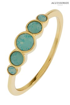 Z for Accessorize Graduated Ring With Swarovski® Crystals