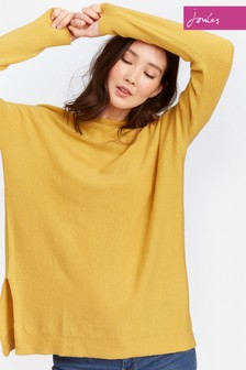 Joules Yellow Boat Neck Lilly Jumper