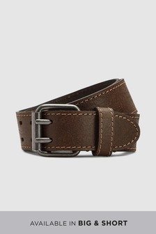Casual Leather Two Prong Belt