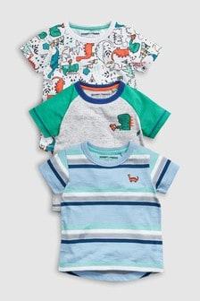 Dinosaur T-Shirts Three Pack (3mths-7yrs)