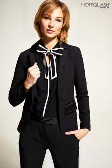 HotSquash Black Tuxedo Jacket With Silky Trim