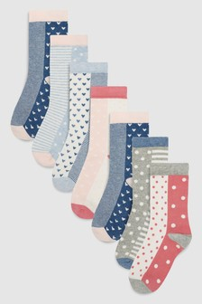 Pretty Spot Socks Seven Pack (Older)