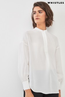 Whistles Stud Pleat Blouse