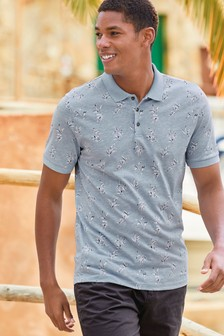 Leaf Printed Polo