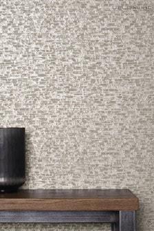 Decorline Grey Small Bricks Wallpaper