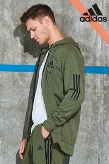 adidas Khaki Sport ID Zip Through Hoody