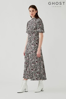 Luella Folk Scatter Print Crepe Dress