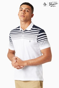 Original Penguin Bright White Stripe Polo