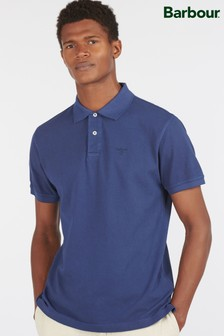 Barbour® Blue Washed Sports Polo Shirt