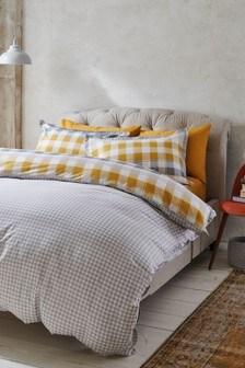Gingham Check Duvet Cover and Pillowcase Set