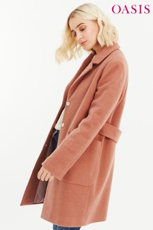 Oasis Natural Libby Crombie Coat