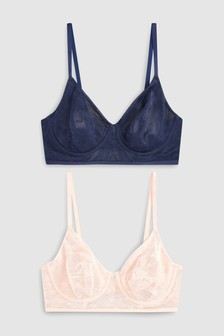 Georgie Non Padded Full Cup Bras Two Pack