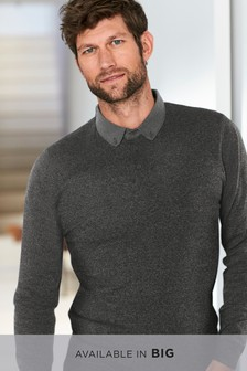 Grindle Woven Collar Knitted Polo