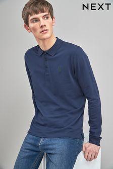 Long Sleeve Pique Polo Shirt