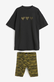 Animal T-Shirt And Shorts Set (3-16yrs)