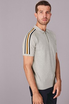 Overarm Zip Stripe Polo