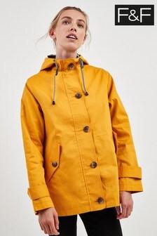 F&F Mustard Cotton Shower Resist Jacket