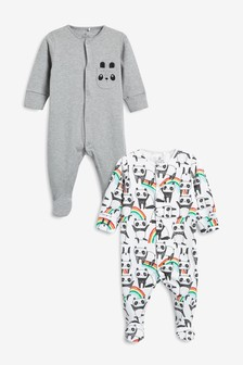 Panda Character Sleepsuits Two Pack (0mths-2yrs)