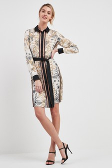 Printed Belted Shirt Dress 9949c435b