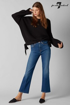 7 For All Mankind® Mid Wash Cropped Mini Boot Cut Jean
