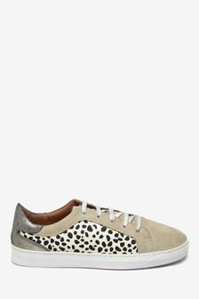 Signature Comfort Animal Print Lace-Up Trainers