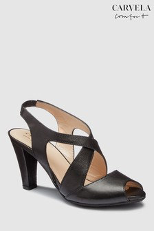 Carvela Comfort Black Leather Annabel Heeled Sandal