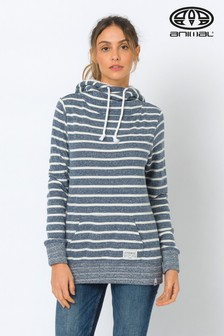 Animal Navy Stripe Wrapped Up Overhead Hoody