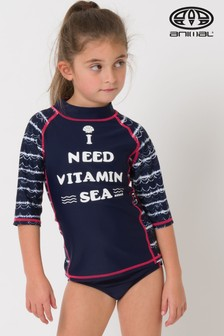 Animal Blue Sea Love Rash Vest Suit