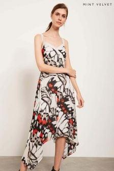 Mint Velvet White Arden Print Trapeze Dress